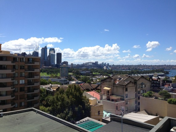 Rooftop view of Sydney