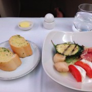 Singapore Airlines A380 Business class food