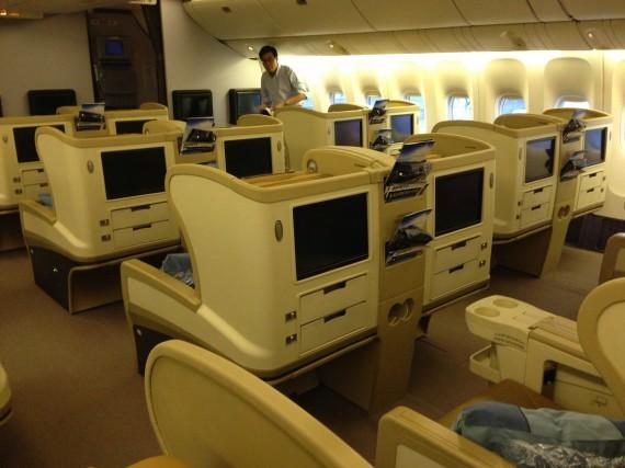 Singapore 777-200ER Business Class