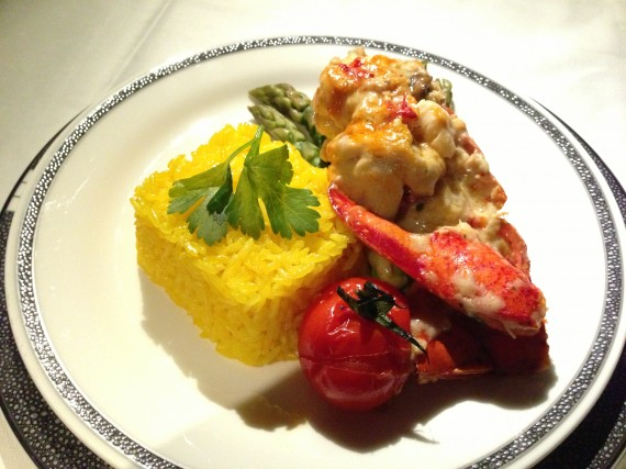 Singapore A380 Book the Cook Lobster Thermidor